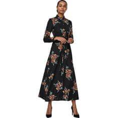 Vero Moda Dámské šaty VMNEWALLIE MAXI 10251668 Black ALLIE (Velikost XS)