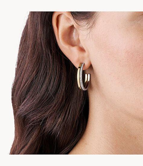 Skagen Fényűző bicolor karika fülbevaló kristályokkal Elin SKJ1447998