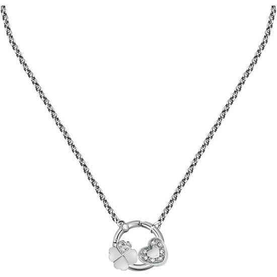 Morellato Elegantna jeklena ogrlica za srečo Kapljice SCZ1179