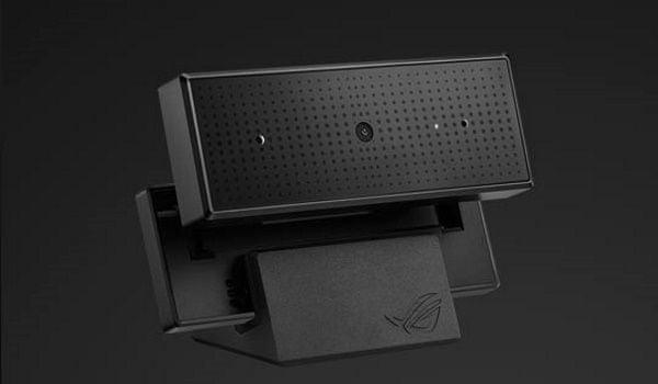 Webová kamera Asus ROG EYE S Full HD rozlišení 1080 px 60 fps 1944 px 30 fps duální mikrofon WDR automatické ostření rozpoznání obličeje modré sklo filtr kompaktní čistý obraz streamovací kamera