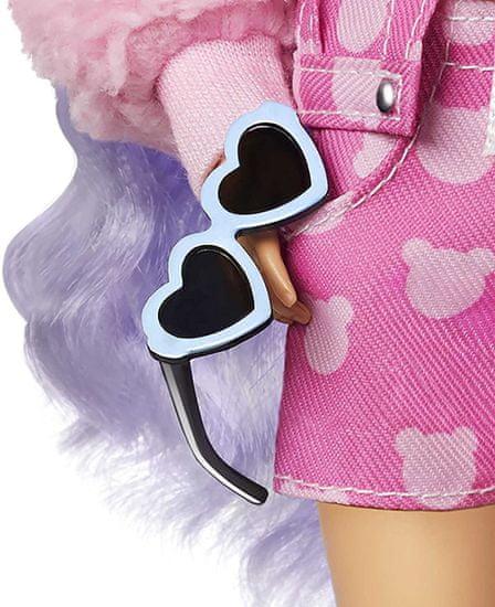 Mattel Barbie Extra s valovitom ljubičastom kosom