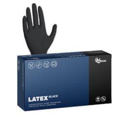 Espeon Latexové rukavice jednorázové LATEX BLACK nepudrované velikost L