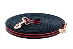 Sedlář Tlustý TLW Dvojitá lonž EXTRA STRONG bavlna červeno-černá 18m