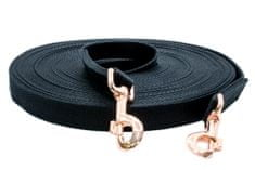 Sedlář Tlustý TLW Dvojitá lonž LUX bavlna černá 18m