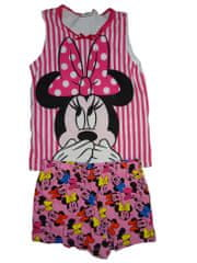 Disney Dívčí růžovočervený letní set tílko a kraťasy s Minnie Vel:3