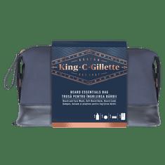 Gillette King C. Gillette: Přípravek Na Mytí Vousů A Obličeje + Balzám + Hřeben