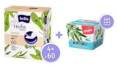 Bella Herbs Plantago Sensitive dnevni ulošci, 4 x 60 komada