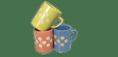 Skodelica, lonček keramičen za belo kavo, čaj, raznih barv sortirano, vol. cca 200 ml, skodelice, set 6