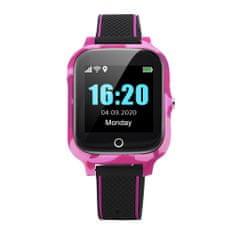 Dětské chytré hodinky s GPS lokátorem a vibracemi - Růžové + Kaktus SIM zdarma