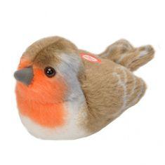 WILD REPUBLIC plyšový ptáček se zvuky Červenka
