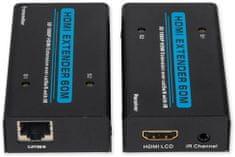 RX Corp RX-505A - HDMI Extender, 1080p, 60m, UTP cat.5e/6, aktiv.