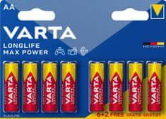 Varta Baterie Longlife Max Power 6+2 AA 4706101448