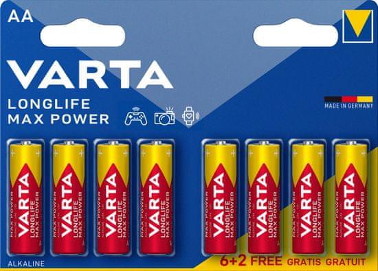 Varta baterija Longlife Max Power 6+2 AA 4706101448, 6+2 kosov