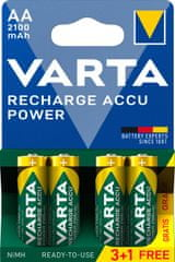 Varta Nabíjecí baterie Power 3+1 AA 2100 mAh R2U 56706101494