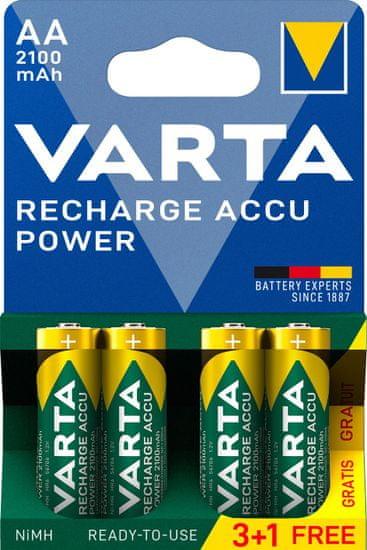 Varta punjiva baterija Power 3+1 AA 2100 mAh R2U 56706101494