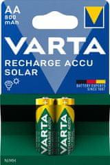 Varta Solar 2 AA 800 mAh 56736101402 újratölthető elem