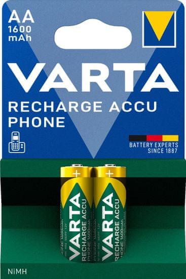 VARTA Nabíjacia batéria Phone 2 AA 1600 mAh 58399201402
