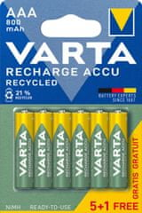 Varta Tölthető akkumlátor Recycled 5+1 AAA 800 mAh R2U 56813101476