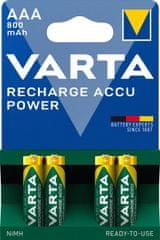 Varta Tölthető elem Power 4 AAA 800 mAh R2U 56703101404