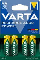 Varta Power 4 AA 1350 mAh R2U polnilna baterija 56746101404, 4 kosi