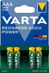 Varta Power Power 4 AAA 1000 mAh R2U polnilna baterija 5703301404, 4 kosi