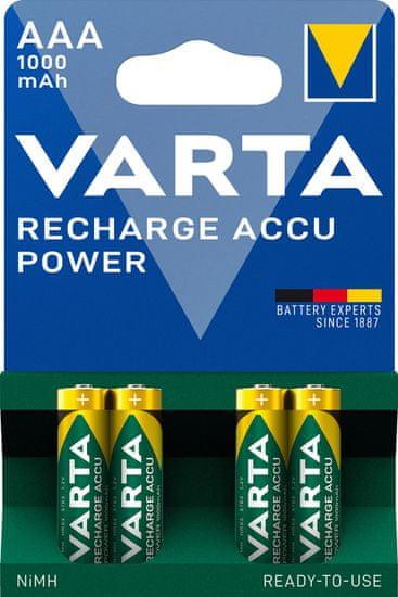 Varta Nabíjecí baterie Power 4 AAA 1000 mAh R2U 5703301404
