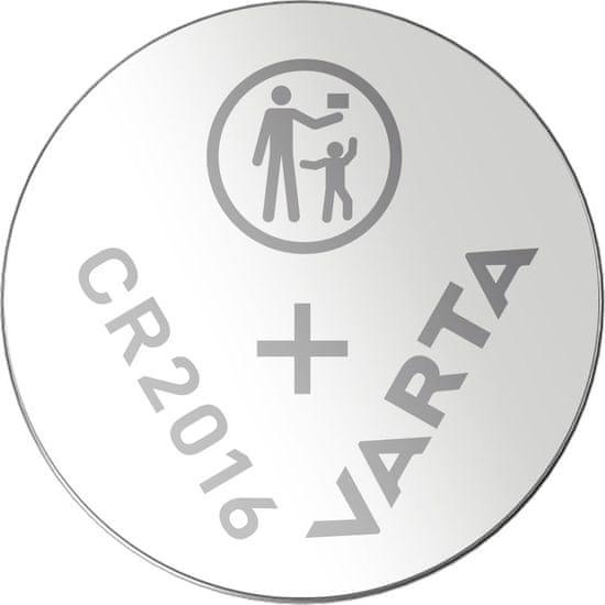 Varta CR 2016 5pack 6016101415 litijeve baterije, 5 kosov