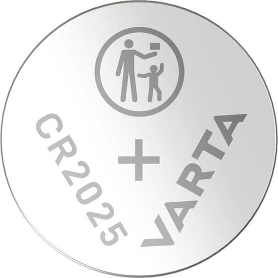Varta CR 2025 5pack 6025101415 litijeva baterija, 5 komada