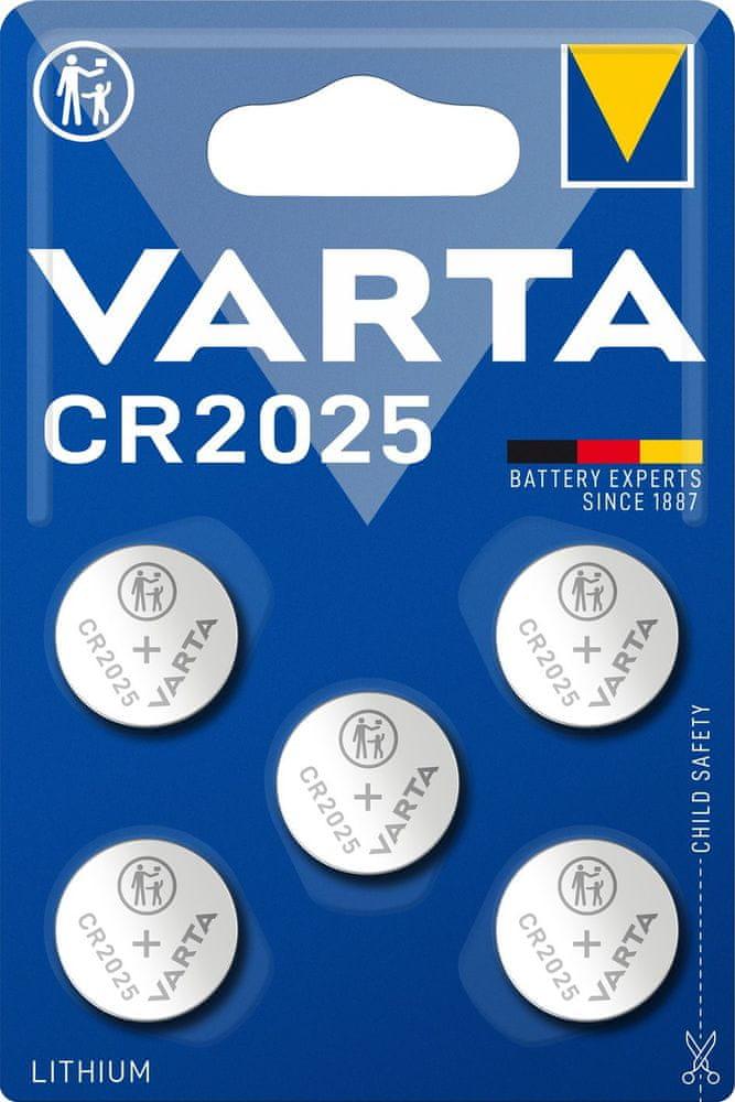 Varta CR 2025 5pack 6025101415