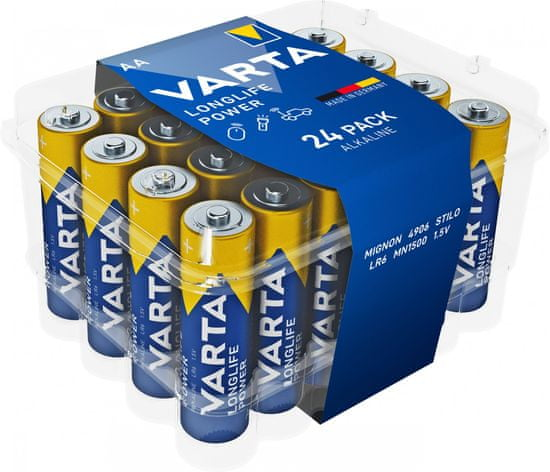 Varta 4906121124 Longlife Power 24 AA (Clear Value Pack) baterije, 24