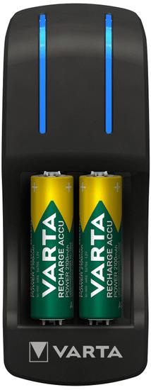 Varta 57642301431 Pocket Charger polnilec za baterije + 4 AA 2100 mAh R2U + 2 AAA 800 mAh baterije