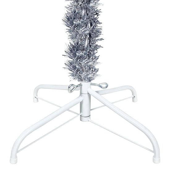 shumee Smukła choinka, srebrna, 120 cm