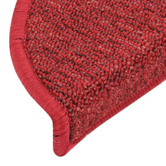 shumee Nakładki na schody, 15 szt., czerwone, 65x21x4 cm