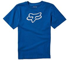 Fox Dětské tričko Legacy Ss Tee - Royal Blue vel. YM