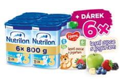 Nutrilon 3 Vanilla batoľacie mlieko 6x 800 g, 12+