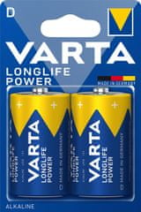 Varta Longlife Power 2 D 4920121412 baterija, 2 kosa