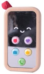 Teddies drveni telefon na baterije, 11 cm