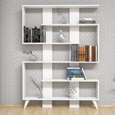 Homemania Knihovna Jane 120 x 22 x 164 cm bílá