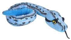 COOLKOUSKY Plyšový had modrý 137 cm
