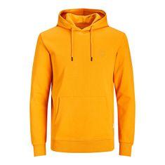 Jack&Jones Moški pulover JJEBASIC Regular Fit 12192215 Gold in Orange (Velikost S)