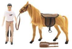 Teddies konj za četkanje + lutka, 30 cm