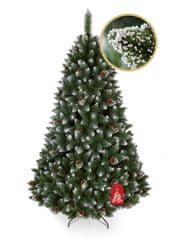 Božično drevo Bor z belimi konicami 220 cm