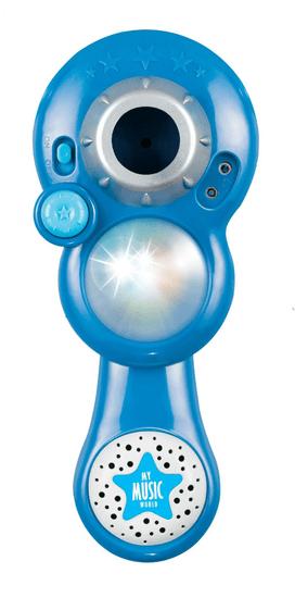 Teddies mikrofon za karaoke na baterije, plav