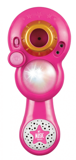 Teddies mikrofon za karaoke na baterije, rozi