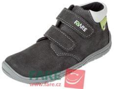 Fare dětské kotníčkové barefoot tenisky B5521261 šedá 28