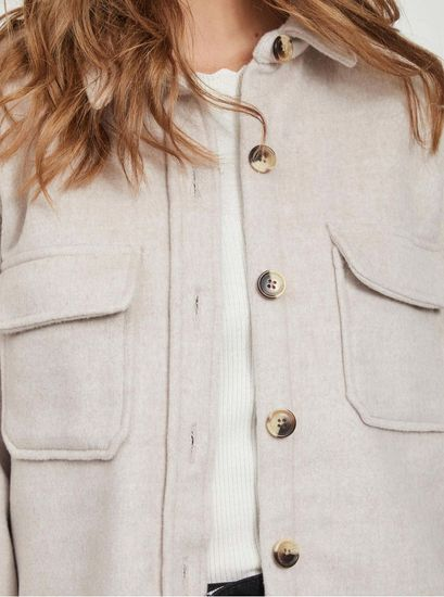 .OBJECT béžová košilová bunda Vera
