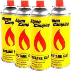 Plynové kartuše Alpen Camping 4x