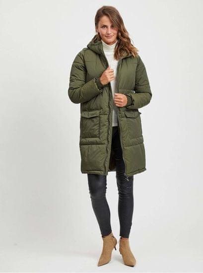 .OBJECT khaki prošívaný zimní kabát Zhanna