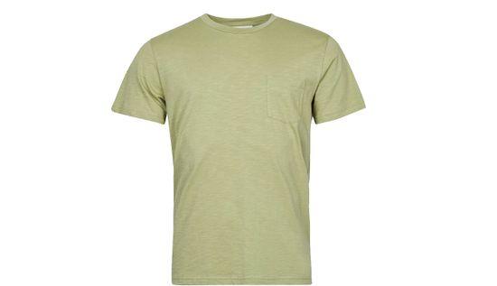 By Garment Makers Tričko Organic Tee Pocket farba zelená   veľkosť S