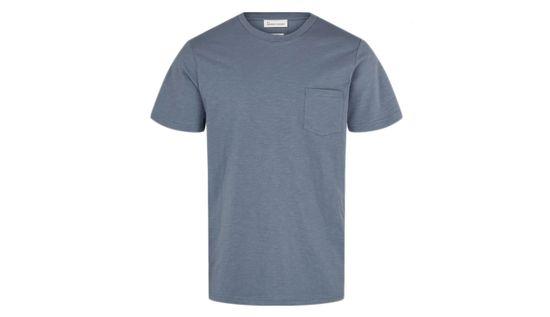 By Garment Makers Tričko Organic Tee Pocket farba modrá   veľkosť M